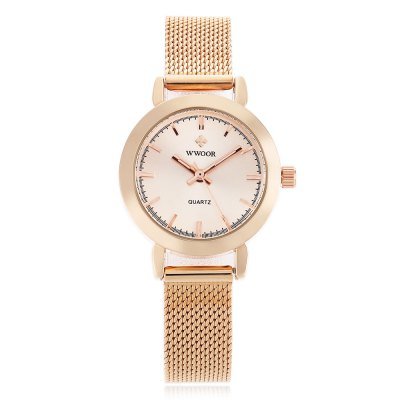 WWOOR 8823 Fashion Lady Quartz WatchWomens Watches<br>WWOOR 8823 Fashion Lady Quartz Watch<br><br>Available Color: Gold,Purple,Rose Gold,White<br>Band material: Steel<br>Band size: 22.3 x 1.2 cm / 8.78 x 0.47 inches<br>Case material: Stainless Steel<br>Clasp type: Hook buckle<br>Dial size: 2.8 x 2.8 x 0.8 cm / 1.10 x 1.10 x 0.31 inches<br>Display type: Analog<br>Movement type: Quartz watch<br>Package Contents: 1 x WWOOR 8823 Fashion Lady Quartz Watch, 1 x Box<br>Package size (L x W x H): 14.80 x 8.20 x 3.30 cm / 5.83 x 3.23 x 1.3 inches<br>Package weight: 0.142 kg<br>Product size (L x W x H): 22.30 x 2.80 x 0.80 cm / 8.78 x 1.1 x 0.31 inches<br>Product weight: 0.038 kg<br>Shape of the dial: Round<br>Watch style: Fashion<br>Watches categories: Female table