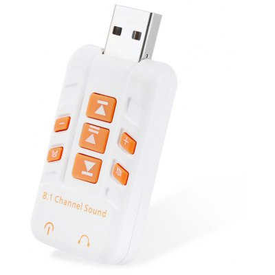 3D Stereo 8.1 Channel USB Audio Adapter External Sound Card