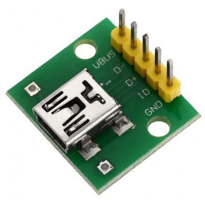 Mini USB Interface to 2.54mm DIP 5P Adapter Module