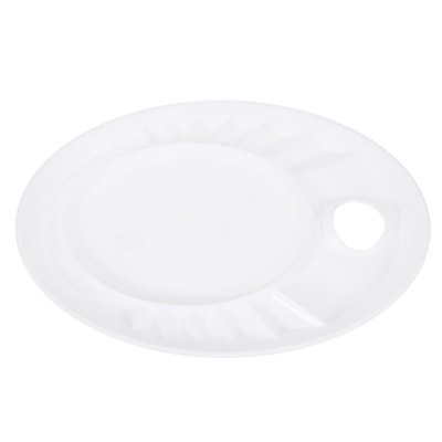Elliptic Type Color Mixing Tray Drawing Tool for Artist