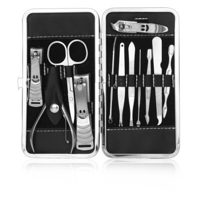 Stainless Steel Nail Clipper Eyebrow Tools Grooming Kit