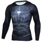 3D Print Classic Cartoon Figure Tight Fit Long Sleeves T Shirt