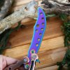 Folding Exercise Dull Blade Training Butterfly Knife with Pouch photo