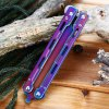 Folding Safe Training Butterfly Knife with Dull Blade No Edge photo