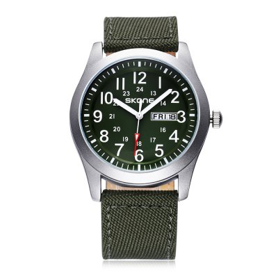 SKONE 1198 Fashion Men Quartz WatchMens Watches<br>SKONE 1198 Fashion Men Quartz Watch<br><br>Available Color: Army green,Black,Blue,Yellow<br>Band material: Canvas<br>Band size: 24 x 2.17 cm / 9.45 x 0.85 inches<br>Brand: Skone<br>Case material: Alloy<br>Clasp type: Pin buckle<br>Dial size: 4.03 x 4.03 x 1.08 cm / 1.59 x 1.59 x 0.43 inches<br>Display type: Analog<br>Movement type: Quartz watch<br>Package Contents: 1 x SKONE 1198 Fashion Men Quartz Watch<br>Package size (L x W x H): 28.00 x 8.00 x 3.50 cm / 11.02 x 3.15 x 1.38 inches<br>Package weight: 0.115 kg<br>Product size (L x W x H): 24.00 x 4.03 x 1.08 cm / 9.45 x 1.59 x 0.43 inches<br>Product weight: 0.055 kg<br>Shape of the dial: Round<br>Watch style: Fashion<br>Watches categories: Male table