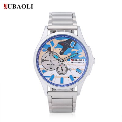 Jubaoli Men Camouflage Dial Quartz Watch