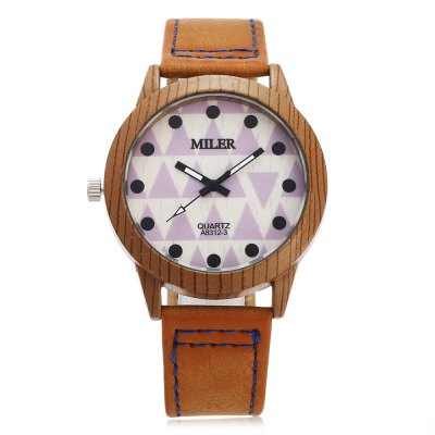 Original Miler 83123 Neutral Quartz Watch with Triangular PatternUnisex Watches<br>Original Miler 83123 Neutral Quartz Watch with Triangular Pattern<br><br>Brand: Miler<br>People: Female table,Male table<br>Watch style: Casual,Classic<br>Shape of the dial: Round<br>Movement type: Quartz watch<br>Display type: Analog<br>Case material: Alloy<br>Band material: Leather<br>Clasp type: Pin buckle<br>Dial size: 4 x 4 x 0.9cm / 1.57 x 1.57 x 0.35 inches<br>Band size: 24.5 x 1.9cm / 9.65 x 0.75 inches<br>Wearable length: 18.5 - 22cm / 7.28 - 8.66 inches<br>Product weight: 0.038 kg<br>Package weight: 0.058 kg<br>Product size (L x W x H): 24.50 x 4.00 x 0.90 cm / 9.65 x 1.57 x 0.35 inches<br>Package size (L x W x H): 25.50 x 5.00 x 1.90 cm / 10.04 x 1.97 x 0.75 inches<br>Package Contents: 1 x Miler 83123 Neutral Quartz Watch