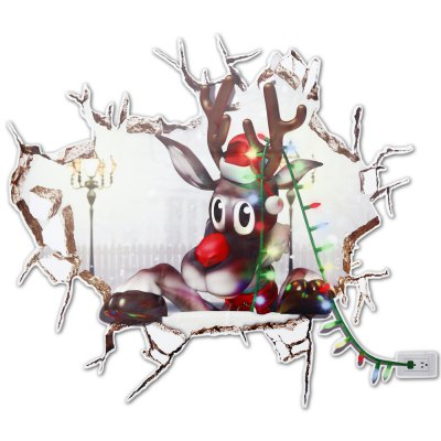 3D Christmas Removable Wall Sticker Creative Gift