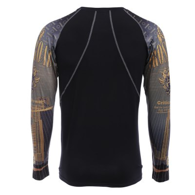Yellow Crossroad Power Print Long Sleeves Tight T-shirtWeight Lifting Clothes<br>Yellow Crossroad Power Print Long Sleeves Tight T-shirt<br><br>Types: Long Sleeves<br>Size: 2XL,L,M,XL<br>Features: Breathable,High elasticity,Quick Dry<br>Gender: Men<br>Material: Polyester,Spandex<br>Product weight: 0.203 kg<br>Package weight: 0.230 kg<br>Package size: 27.00 x 25.00 x 3.00 cm / 10.63 x 9.84 x 1.18 inches<br>Package Content: 1 x Men Tight T-shirt