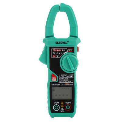 ELECALL EM2016A Digital Clamp Meter Auto Range AC DC Voltmeter with Backlight Display