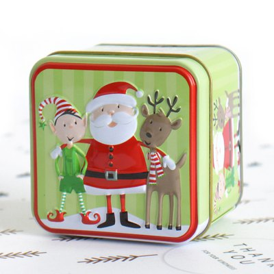 Cartoon Christmas Relief Storage Candy Box