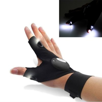 Sports Fishing Glove with 2 LED Lights for Night Activities desktop motherboard for lenovo ih61m 1155 system mainboard fully tested with cheap shipping