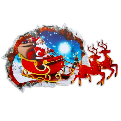 Christmas Removable 3D Wall Decals Home Decoration