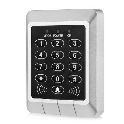 XSC RFID Access Control SystemAccess Control<br>XSC RFID Access Control System<br><br>Brand: XSC<br>Package Contents: 1 x XSC Access Control System, 5 x ID Buckle Card, 1 x Chinese User Manual, 3 x Screw, 2 x Screw Cap, 1 x Cable<br>Package size (L x W x H): 13.00 x 10.00 x 3.00 cm / 5.12 x 3.94 x 1.18 inches<br>Package weight: 0.173 kg<br>Product size (L x W x H): 11.00 x 8.50 x 2.10 cm / 4.33 x 3.35 x 0.83 inches<br>Product weight: 0.076 kg<br>Type ( Access Control ): Access Control Systems<br>Working Temp.(?): 20 - 55 Deg.C