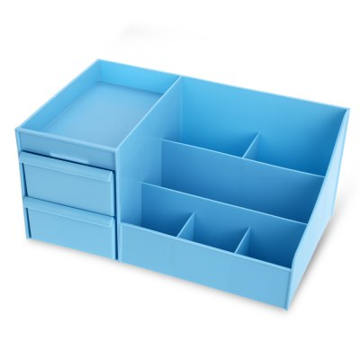 Multifunctional Cosmetic Storage Box CaseStorage Boxes &amp; Bins<br>Multifunctional Cosmetic Storage Box Case<br><br> Product weight: 0.524 kg<br>Available Color: Blue<br>Materials: PP<br>Package Contents: 1 x Storage Box<br>Package Size(L x W x H): 30.00 x 20.00 x 15.40 cm / 11.81 x 7.87 x 6.06 inches<br>Package weight: 0.743 kg<br>Product Size(L x W x H): 28.70 x 17.80 x 13.20 cm / 11.3 x 7.01 x 5.2 inches