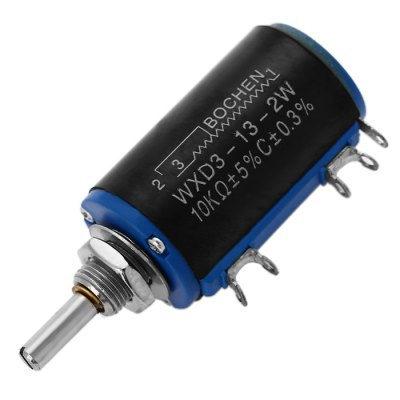 WXD3 - 13 - 2W Wirewound Precision PotentiometerOther Accessories<br>WXD3 - 13 - 2W Wirewound Precision Potentiometer<br><br>Color: Black<br>Model: WXD3 - 13 - 2W<br>Package Contents: 1 x 10K Ohm Multi-turn Wirewound Precision Potentiometer<br>Package Size(L x W x H): 8.00 x 5.00 x 3.00 cm / 3.15 x 1.97 x 1.18 inches<br>Package weight: 0.045 kg<br>Product Size(L x W x H): 5.70 x 2.60 x 2.00 cm / 2.24 x 1.02 x 0.79 inches<br>Product weight: 0.023 kg