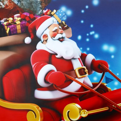 Christmas Removable 3D Wall Decals Home DecorationWall Stickers<br>Christmas Removable 3D Wall Decals Home Decoration<br><br>Package Contents: 1 x Wall Sticker<br>Package size (L x W x H): 5.70 x 5.70 x 61.00 cm / 2.24 x 2.24 x 24.02 inches<br>Package weight: 0.334 kg<br>Product size (L x W x H): 60.10 x 58.00 x 0.10 cm / 23.66 x 22.83 x 0.04 inches<br>Product weight: 0.147 kg