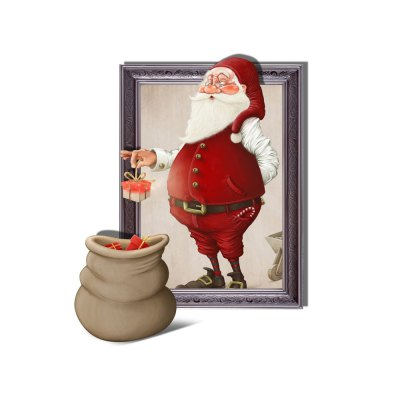 3D Christmas Removable Wall Sticker Home Decoration