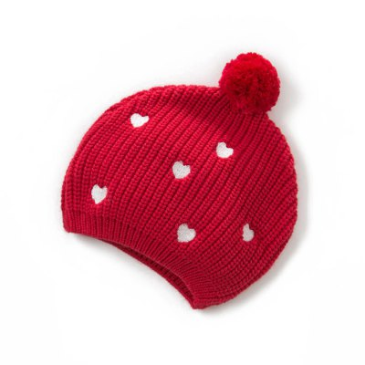 dave bella Winter Heart Baby Infant Knitted Hat Cap