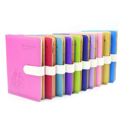 Leather Cover Colorful Notebook with Magnetic Snap