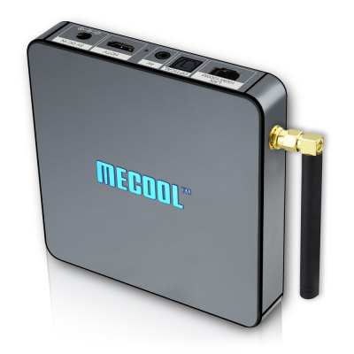 MECOOL BB2 PRO Android 6.0 TV Box 3GB DDR4 + 16GBTV Box &amp; Mini PC<br>MECOOL BB2 PRO Android 6.0 TV Box 3GB DDR4 + 16GB<br><br>Brand: MECOOL<br>Model: BB2 PRO<br>Type: TV Box<br>GPU: ARM Mali-T820MP3<br>System: Android 6.0<br>CPU: Amlogic S912<br>Core: Octa Core<br>RAM: 3GB<br>RAM Type: DDR4<br>ROM: 16G<br>Max. Extended Capacity: 32G<br>Decoder Format: H.264,H.265,HD MPEG4<br>Video format: ASF,AVI,AVS,DAT,FLV,H.264,H.265,ISO,MKV,MPEG,MPG,RM,RMVB,TS,VOB,VP9 Profile-2,WMV<br>Audio format: AAC,APE,DDP,FLAC,HD,MP3,OGG,TrueHD,WAV,WMA<br>Photo Format: GIF,JPEG,PNG,TIFF<br>Support 5.1 Surround Sound Output: No<br>5G WiFi: Yes<br>WIFI: 802.11 b/g/n/ac<br>Bluetooth: Bluetooth4.0<br>Power Supply: Charge Adapter<br>Interface: AV,DC 5V,HDMI,RJ45,SPDIF,TF card,USB2.0<br>Antenna: Yes<br>Camera: Without<br>Language: Multi-language<br>DVD Support: No<br>HDMI Version: 2.0<br>Other Functions: 3D Games,3D Video,Airplay,DLNA,Miracast,NTSC,PAL<br>External Subtitle Supported: Yes<br>HDMI Function: CEC<br>Power Comsumption: 8W<br>RJ45 Port Speed: 10/100M/1000M RGMII<br>System Bit: 64Bit<br>KODI Pre-installed: Yes<br>KODI Version: 17.0<br>System Activation: Yes<br>Power Type: External Power Adapter Mode<br>Product weight: 0.206 kg<br>Package weight: 0.525 kg<br>Product size (L x W x H): 10.90 x 10.90 x 2.10 cm / 4.29 x 4.29 x 0.83 inches<br>Package size (L x W x H): 15.50 x 14.50 x 7.00 cm / 6.1 x 5.71 x 2.76 inches<br>Package Contents: 1 x TV Box, 1 x HDMI Cable, 1 x Remote Control, 1 x Power Adaptor, 1 x English User Manual, 1 x WiFi Antenna