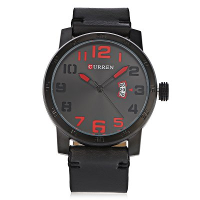 Curren 8254 Male Quartz WatchMens Watches<br>Curren 8254 Male Quartz Watch<br><br>Band material: Leather<br>Band size: 26.5 x 2.4 cm / 10.43 x 0.94 inches<br>Brand: Curren<br>Case material: Alloy<br>Clasp type: Pin buckle<br>Dial size: 5 x 5 x 1.2 cm / 1.97 x 1.97 x 0.47 inches<br>Display type: Analog<br>Movement type: Quartz watch<br>Package Contents: 1 x Curren 8254 Male Quartz Watch, 1 x Box<br>Package size (L x W x H): 10.40 x 8.20 x 6.80 cm / 4.09 x 3.23 x 2.68 inches<br>Package weight: 0.2080 kg<br>Product size (L x W x H): 26.50 x 5.00 x 1.20 cm / 10.43 x 1.97 x 0.47 inches<br>Product weight: 0.0780 kg<br>Shape of the dial: Round<br>Watch style: Business<br>Watches categories: Male table<br>Water resistance : 30 meters<br>Wearable length: 19 - 24 cm / 7.48 x 9.45 inches
