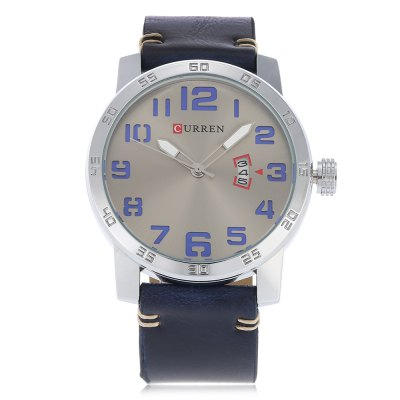 Curren 8254 Male Quartz WatchMens Watches<br>Curren 8254 Male Quartz Watch<br><br>Band material: Leather<br>Band size: 26.5 x 2.4 cm / 10.43 x 0.94 inches<br>Brand: Curren<br>Case material: Alloy<br>Clasp type: Pin buckle<br>Dial size: 5 x 5 x 1.2 cm / 1.97 x 1.97 x 0.47 inches<br>Display type: Analog<br>Movement type: Quartz watch<br>Package Contents: 1 x Curren 8254 Male Quartz Watch, 1 x Box<br>Package size (L x W x H): 10.40 x 8.20 x 6.80 cm / 4.09 x 3.23 x 2.68 inches<br>Package weight: 0.208 kg<br>Product size (L x W x H): 26.50 x 5.00 x 1.20 cm / 10.43 x 1.97 x 0.47 inches<br>Product weight: 0.078 kg<br>Shape of the dial: Round<br>Watch style: Business<br>Watches categories: Male table<br>Water resistance : 30 meters<br>Wearable length: 19 - 24 cm / 7.48 x 9.45 inches