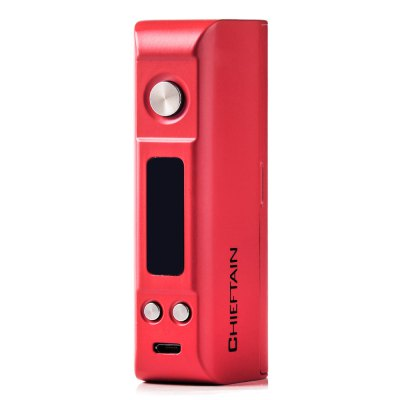 Original Wotofo CHIEFTAIN 80W TC Box Mod with Five ModesTemperature Control Mods<br>Original Wotofo CHIEFTAIN 80W TC Box Mod with Five Modes<br><br>Accessories type: MOD<br>APV Mod Wattage: 80W<br>APV Mod Wattage Range: 51-100W<br>Battery Cover Type: Magnetic<br>Battery Form Factor: 18650, 26650<br>Battery Quantity: 1pc ( not included )<br>Brand: Wotofo<br>Material: Zinc Alloy<br>Mod: Temperature Control Mod,Temperature Control Mod,VV/VW Mod<br>Model: CHIEFTAIN 80W<br>Package Contents: 1 x Wotofo CHIEFTAIN 80W TC Box Mod, 1 x USB Cable, 1 x English User Manual<br>Package size (L x W x H): 12.30 x 7.10 x 5.20 cm / 4.84 x 2.8 x 2.05 inches<br>Package weight: 0.380 kg<br>Product size (L x W x H): 9.30 x 2.95 x 4.15 cm / 3.66 x 1.16 x 1.63 inches<br>Product weight: 0.183 kg<br>Temperature Control Range: 212 - 572 Deg.F / 100 - 300 Deg.C<br>Type: Electronic Cigarettes Accessories
