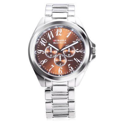 Jubaoli 1166 Male Quartz WatchMens Watches<br>Jubaoli 1166 Male Quartz Watch<br><br>Band material: Stainless Steel<br>Band size: 21 x 2 cm / 8.27 x 0.79 inches<br>Brand: Jubaoli<br>Case material: Alloy<br>Clasp type: Sheet folding clasp<br>Dial size: 4.5 x 4.5 x 1 cm / 1.77 x 1.77 x 0.39 inches<br>Display type: Analog<br>Movement type: Quartz watch<br>Package Contents: 1 x Jubaoli 1166 Male Quartz Watch, 1 x Box<br>Package size (L x W x H): 10.40 x 8.20 x 6.80 cm / 4.09 x 3.23 x 2.68 inches<br>Package weight: 0.208 kg<br>Product size (L x W x H): 21.00 x 4.50 x 1.00 cm / 8.27 x 1.77 x 0.39 inches<br>Product weight: 0.078 kg<br>Shape of the dial: Round<br>Special features: Luminous<br>Watch style: Business<br>Watches categories: Male table<br>Water resistance : 30 meters
