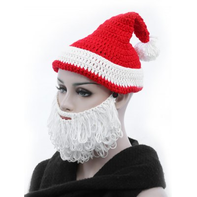 Adult Christmas Santa Claus Hand Knitted Hat