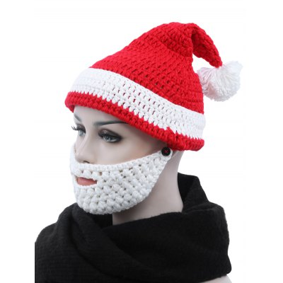 christmas-parent-child-santa-claus-knitted-hat-with-beard