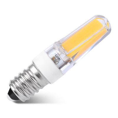UltraFire 5W E14 COB 2609 486Lm Mini LED BulbCorn Bulbs<br>UltraFire 5W E14 COB 2609 486Lm Mini LED Bulb<br><br>Angle: 360 degree<br>Available Light Color: Cool White,Warm White<br>Brand: Ultrafire<br>CCT/Wavelength: 2700-3000K,6000-7000K<br>Features: Low Power Consumption, Long Life Expectancy<br>Function: Studio and Exhibition Lighting, Home Lighting, Commercial Lighting<br>Holder: E14<br>Luminous Flux: 486Lm<br>Output Power: 5W<br>Package Contents: 1 x UltraFire E14 LED Bulb<br>Package size (L x W x H): 8.00 x 2.80 x 2.80 cm / 3.15 x 1.1 x 1.1 inches<br>Package weight: 0.030 kg<br>Product size (L x W x H): 6.30 x 1.80 x 1.80 cm / 2.48 x 0.71 x 0.71 inches<br>Product weight: 0.010 kg<br>Sheathing Material: PC, ABS<br>Total Emitters: COB 2609<br>Type: Mini Bulb<br>Voltage (V): AC 220