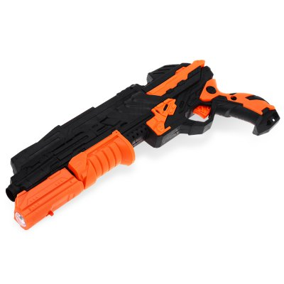 Toy Gun with Infrared Ray Foam Dart Jelly BulletOutdoor Fun &amp; Sports<br>Toy Gun with Infrared Ray Foam Dart Jelly Bullet<br><br>Nature: Gun<br>Materials: Foam,Other,Plastic<br>Appliable Crowd: Boys<br>Specification: Chinese<br>Product weight: 0.196 kg<br>Package weight: 0.237 kg<br>Product size: 32.00 x 4.00 x 14.50 cm / 12.6 x 1.57 x 5.71 inches<br>Package size: 33.00 x 5.00 x 15.50 cm / 12.99 x 1.97 x 6.1 inches<br>Package Contents: 1 x Gun, 2 x Foam Dart, 1 x Pack of Jelly Bullets, 1 x Pack of Hydrophilic Particles