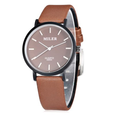 MILER A9003 Casual Pure Color Men Quartz Watch