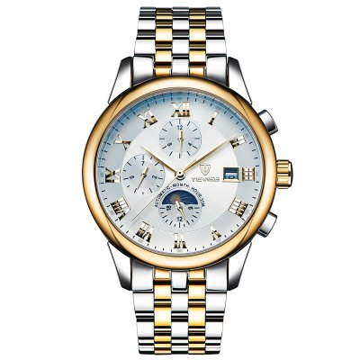 TEVISE 9008G Business Men Automatic Mechanical Watch