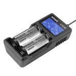 XTAR VC2 Dual Slots USB Battery Charger with LCD for 3.6V / 3.7V Li-ion Batteries