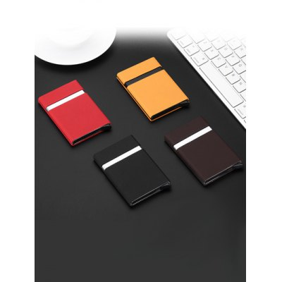 Automatic Pop-up RFID-blocking Creative Card HolderCoin Purse &amp; Card Holder<br>Automatic Pop-up RFID-blocking Creative Card Holder<br><br>Style: Casual<br>Color: Black,Coffee,Orange,Red<br>Product weight: 0.080 kg<br>Package weight: 0.084 kg<br>Product Size(L x W x H): 10.00 x 6.20 x 0.80 cm / 3.94 x 2.44 x 0.31 inches<br>Package Size(L x W x H): 15.00 x 8.00 x 2.00 cm / 5.91 x 3.15 x 0.79 inches<br>Packing List: 1 x Card Holder