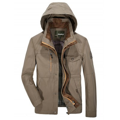 Jeep Rich Outdoor Cotton Zipper Front Hooded Jacket