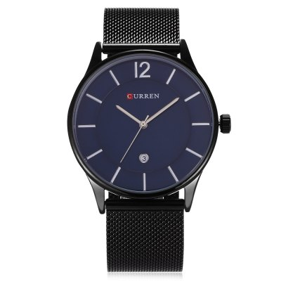 CURREN 8231 Business Men Quartz WatchMens Watches<br>CURREN 8231 Business Men Quartz Watch<br><br>Band material: Stainless Steel<br>Band size: 25.5 x 2.2 cm / 10.04 x 0.87 inches<br>Brand: Curren<br>Case material: Stainless Steel<br>Clasp type: Hook buckle<br>Dial size: 4.2 x 4.2 x 0.9 cm / 1.65 x 1.65 x 0.35 inches<br>Display type: Analog<br>Movement type: Quartz watch<br>Package Contents: 1 x CURREN 8231 Business Men Quartz Watch, 1 x Box<br>Package size (L x W x H): 11.50 x 8.50 x 7.00 cm / 4.53 x 3.35 x 2.76 inches<br>Package weight: 0.205 kg<br>Product size (L x W x H): 25.50 x 4.20 x 0.90 cm / 10.04 x 1.65 x 0.35 inches<br>Product weight: 0.074 kg<br>Shape of the dial: Round<br>Special features: Date<br>Watch color: Black, Blue + Black, Silver + Black , Black + Rose Gold , Silver + White<br>Watch style: Business<br>Watches categories: Male table<br>Water resistance : Life water resistant