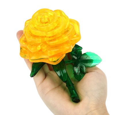 Rose Shape Crystal 3D Puzzle Building Block for Lover