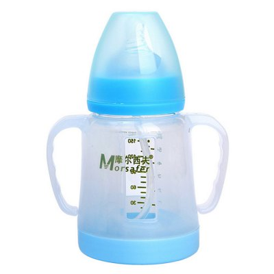 Morsafer Glass Baby Infant Milk Bottle with Nipple