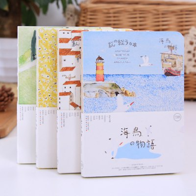 3090 Hand-painted NotebookNotebooks &amp; Pads<br>3090 Hand-painted Notebook<br><br>Type: Others<br>Material: Paper<br>Color: Blue,Green,Orange,Yellow<br>Product weight: 0.200 kg<br>Package weight: 0.270 kg<br>Product size (L x W x H): 18.30 x 13.20 x 1.30 cm / 7.2 x 5.2 x 0.51 inches<br>Package size (L x W x H): 19.30 x 14.30 x 2.30 cm / 7.6 x 5.63 x 0.91 inches<br>Package Contents: 1 x Hand-painted Notebook