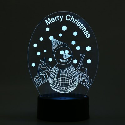 3D Christmas LED Light Snowman Colorful Lamp