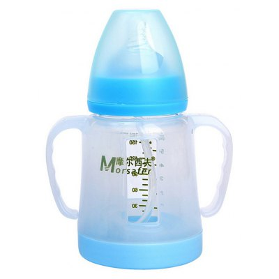 Morsafer Glass Baby Milk Bottle Heat Insulation