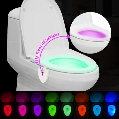 BRELONG Motion Activated LED Closestool Night Light UV Sterilization