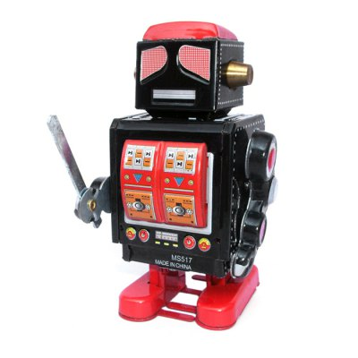 Retro Vintage Walking Robot