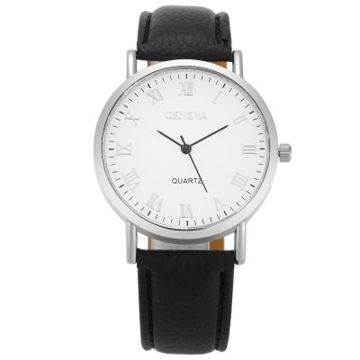 GENEVA Fashion Grid Pattern Dial Unisex Quartz WatchUnisex Watches<br>GENEVA Fashion Grid Pattern Dial Unisex Quartz Watch<br><br>Brand: Geneva<br>People: Female table,Male table<br>Watch style: Fashion<br>Watch color: Purple, Pink, Black, Brown, White, White + Black<br>Shape of the dial: Round<br>Movement type: Quartz watch<br>Display type: Analog<br>Case material: Alloy<br>Band material: PU Leather<br>Clasp type: Pin buckle<br>Dial size: 4 x 4 x 0.8 cm / 1.57 x 1.57 x 0.31 inches<br>Band size: 23.8 x 2 cm / 9.37 x 0.79 inches<br>Wearable length: 17.2 - 21.4 cm / 6.77 - 8.43 inches<br>Product weight: 0.028 kg<br>Package weight: 0.068 kg<br>Product size (L x W x H): 23.80 x 4.00 x 0.80 cm / 9.37 x 1.57 x 0.31 inches<br>Package size (L x W x H): 24.80 x 5.00 x 1.80 cm / 9.76 x 1.97 x 0.71 inches<br>Package Contents: 1 x GENEVA Fashion Unisex Quartz Watch