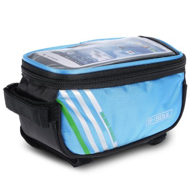 B - SOUL YA0207 4.8 inch 1.4L Touchscreen Bike Front Tube BagBike Bags<br>B - SOUL YA0207 4.8 inch 1.4L Touchscreen Bike Front Tube Bag<br><br>Brand: B-SOUL<br>Color: Black,Blue,Orange,Red<br>Emplacement: Front Tube<br>For: Unisex<br>Material: PU, Polyester<br>Model Number: YA0207<br>Package Contents: 1 x B - SOUL YA0207 4.8 inch Touchscreen Bike Front Tube Bag<br>Package Dimension: 18.00 x 10.00 x 9.00 cm / 7.09 x 3.94 x 3.54 inches<br>Package weight: 0.150 kg<br>Product Dimension: 16.50 x 9.00 x 8.50 cm / 6.5 x 3.54 x 3.35 inches<br>Product weight: 0.121 kg<br>Suitable for: Fixed Gear Bicycle, Mountain Bicycle, Road Bike, Touring Bicycle