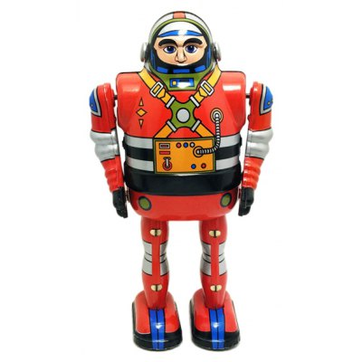 Vintage Walking Robot Tin Retro Mechanical Kid Gift
