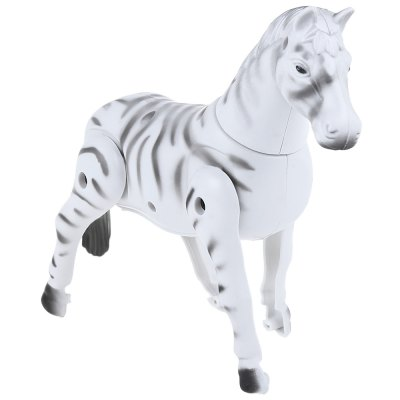 Novelty Electric Zebra Horse Walking Circle Playmate Toy for Kid